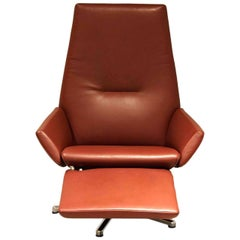 "Armchair ""WK 680 Tipo"" by Manufacturer WK Wohnen with 100% Genuine Leather"