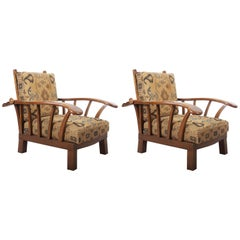 Pair of Austrian Early Art Deco Armchairs