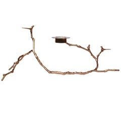 Bronze Magnolia Twig Tealight Candleholder, Long