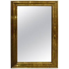 Late 19th Century French Bistro Brass Mirror