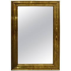 Late 19th Century French Bistro Brass Mirror