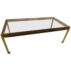 Mid-20th Century Maison Ramsay Iron Glass Coffee Table