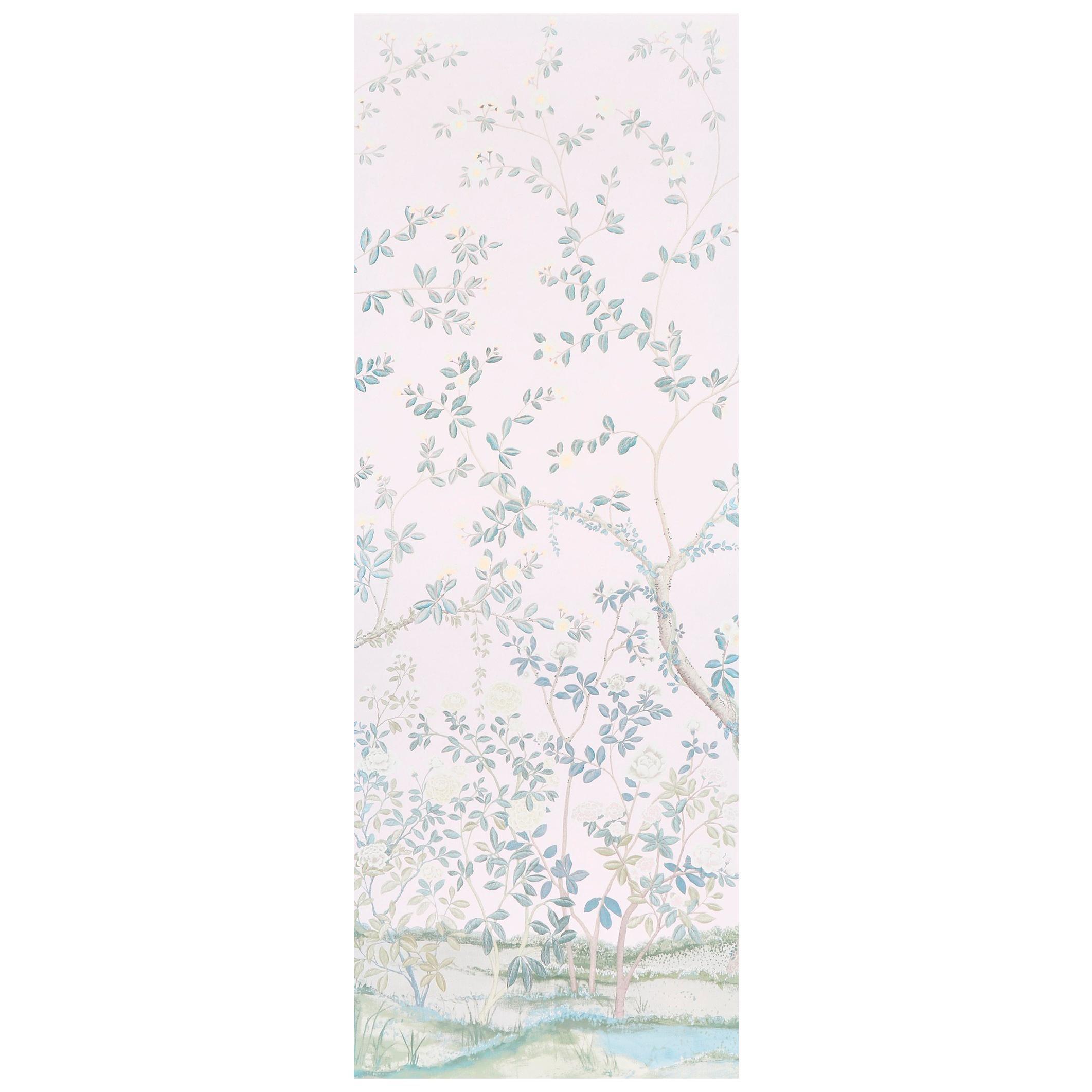Schumacher Miles Redd Madame de Pompadour Blush Wallpaper Panel Unit