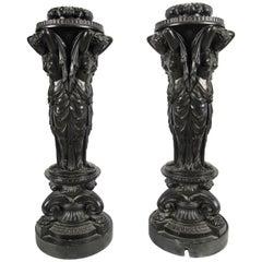 Regency Plaster Figural Pedestals