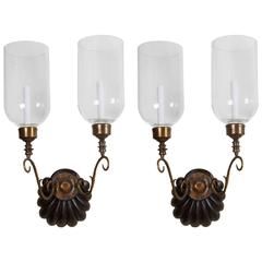 Pair of Anglo Indian Two-Light Sconces