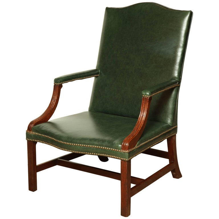George III Mahogany Gainsborough Armchair