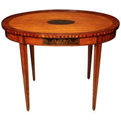 Dutch Neoclassic Satinwood Oval Centre Table