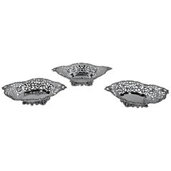 Antique Howard Sterling Silver Three-Piece Centrepiece Garniture