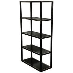 Black Iron Étagère with Four Shelves by Pierre Vandel, Paris