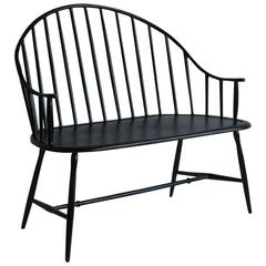 Black Metal Powder Coated Settee