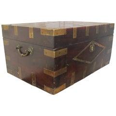 Large Georgian Brass Bound Gentleman's Travelling Box