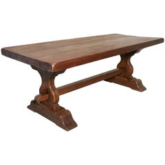 Large French Oak Refectory Table, Table Monastère