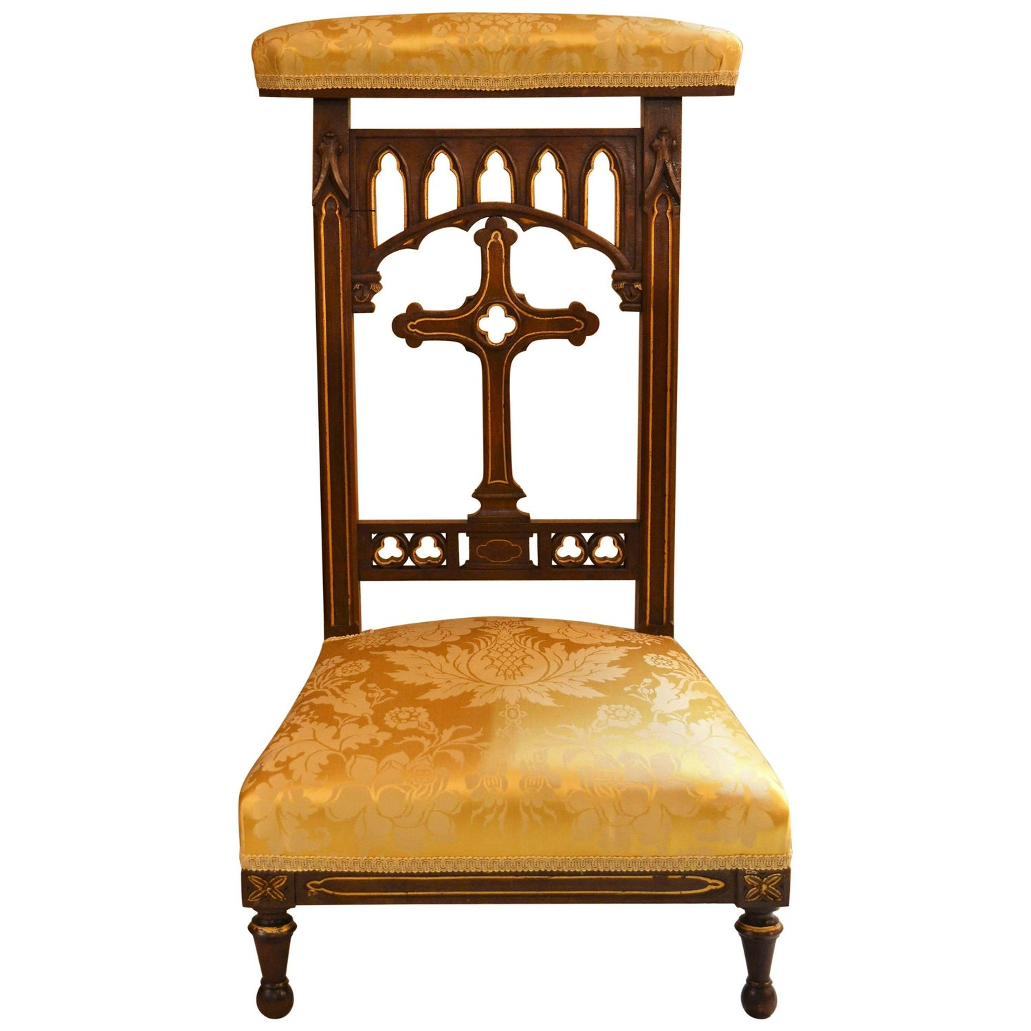 Antique French Walnut Prie Dieu Prayer Chair - Antique Metamorphosis Prie-Dieu Prayer Chair For Sale At 1stdibs