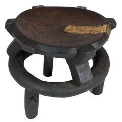 Early 20th Century Wooden Stool from Tanzania, East Africa
