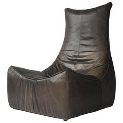 1970s Leather Chair by Gerard Van Den Berg for Montis