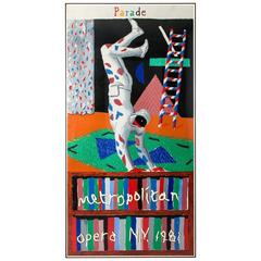 "David Hockney ""Metropolitan Museum"" Limited Edition Lithograph"