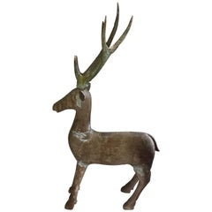 Old Wooden Deer from Java, Indonesia, circa 1920