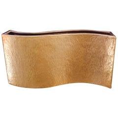 Wavelet Vase by Robert Kuo, 24-Karat Gold Plate, Limited Edition, Customizable