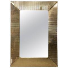 Large Brass Wall Mirror