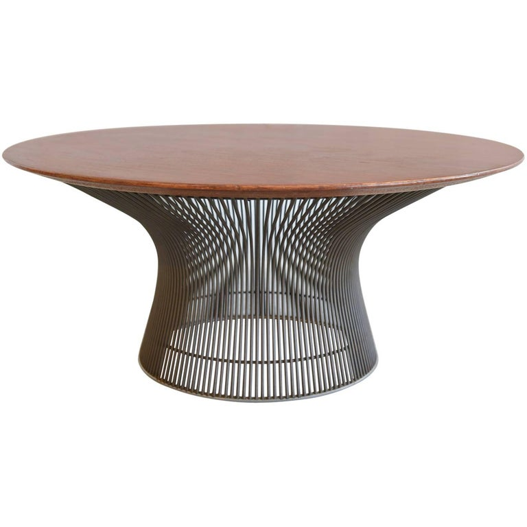 Warren Platner For Knoll Bronze And Walnut Coffee Table Circa 1965 At 1stdibs