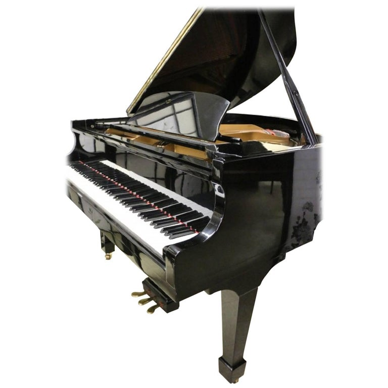 Ebony Gloss Schumann Baby Grand Piano Made by Samick Excellent Inside and Out 1