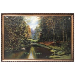 Massive Oil on Canvas Painting Signed M.Van Molle