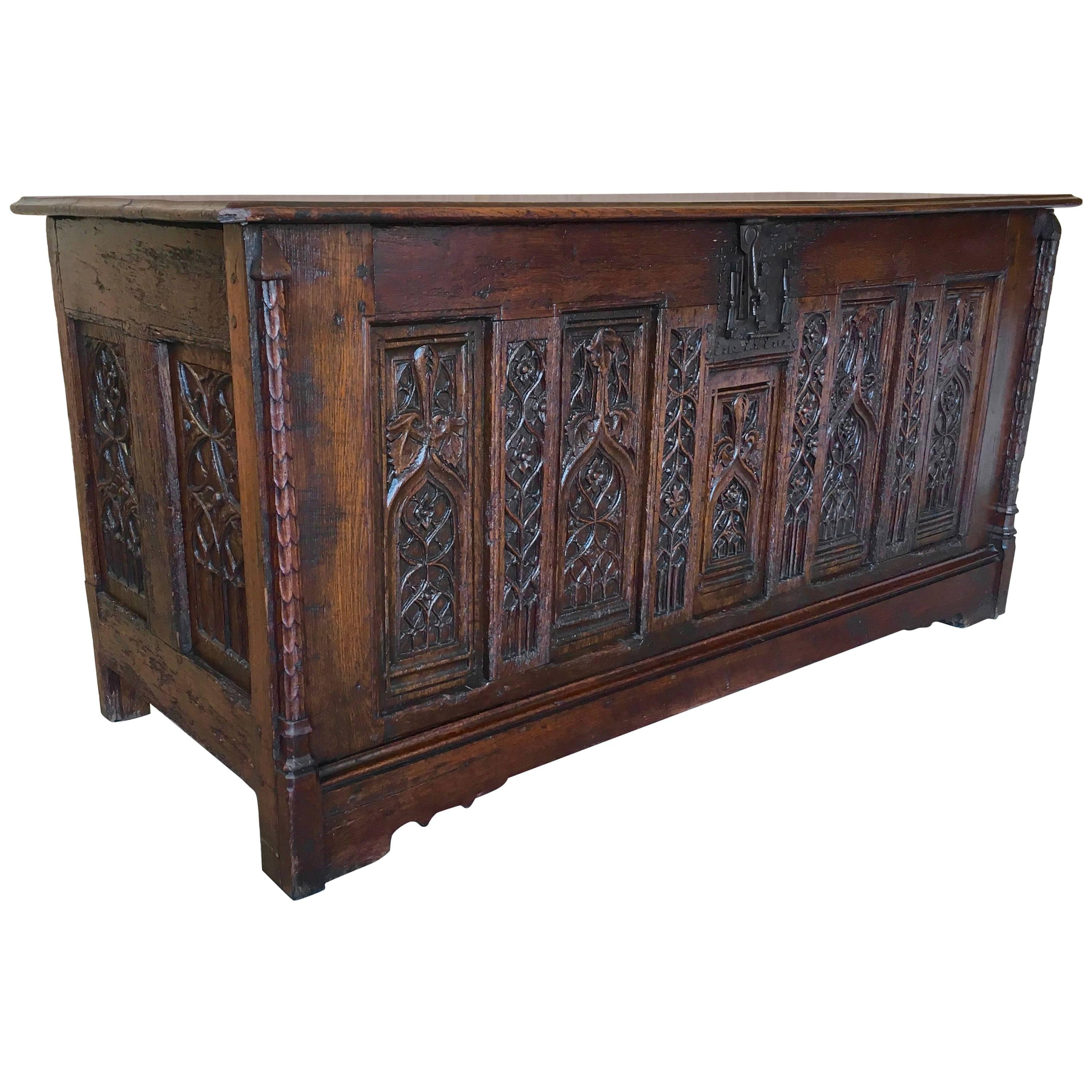 Gothic Desk Converted From A Chest