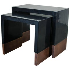 Nesting Tables with Hammer Design by Robert Kuo, Limited Edition