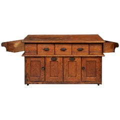 Early 20th Century Bakers Cabinet with Winged Doors
