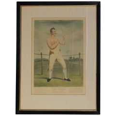 "Antique English Regency Boxing Portrait ""Tom Cribb, Champion of England"""
