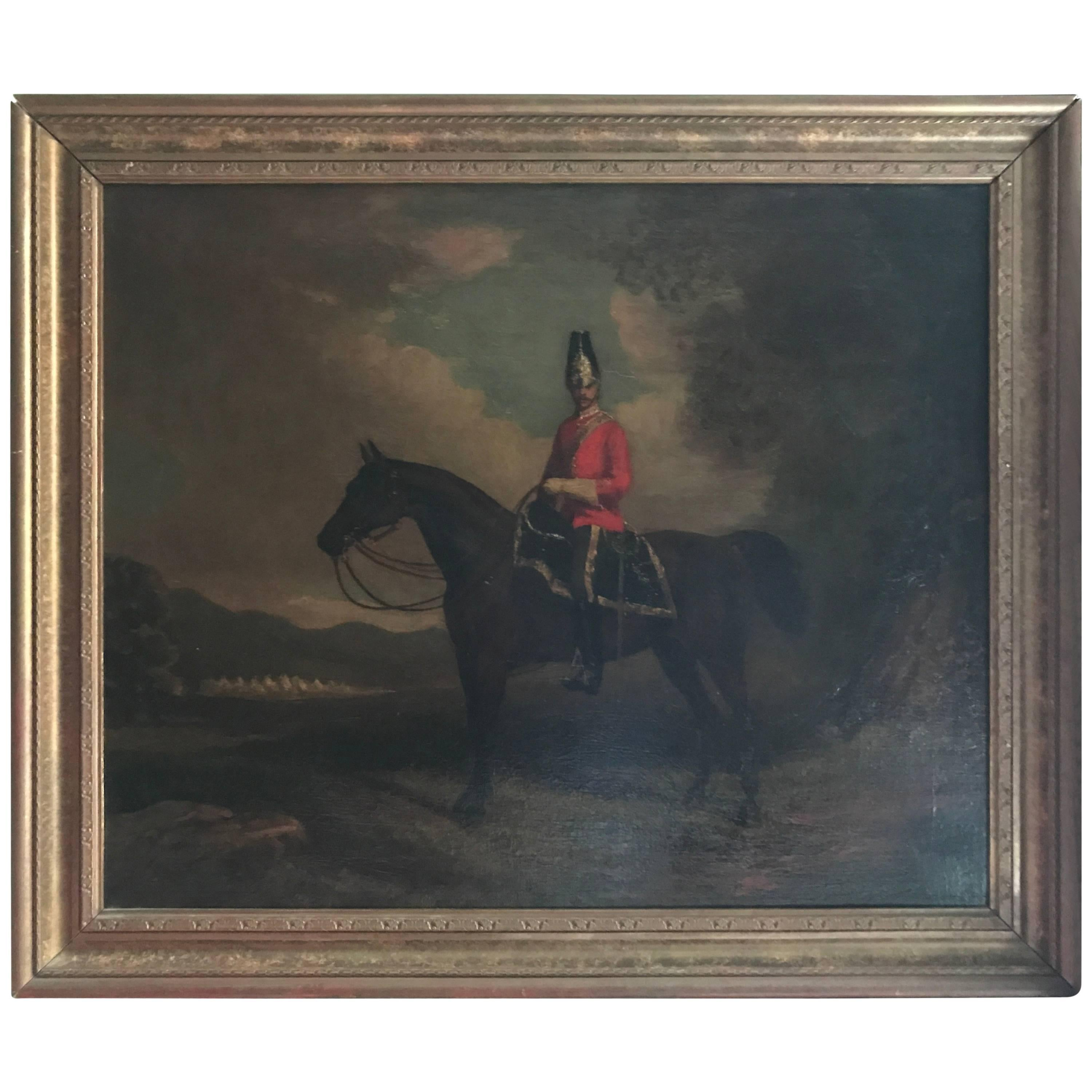 British school antique equestrian oil painting of horse hunt scene british school antique equestrian oil painting of horse hunt scene 19th century at 1stdibs jeuxipadfo Gallery
