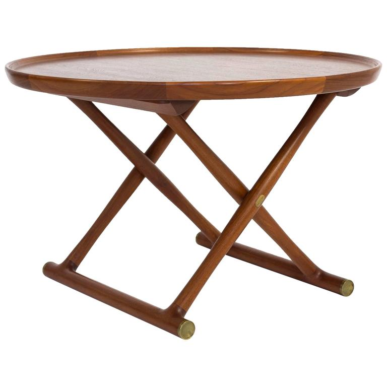 Mogens Lassen, Egyptian Table in Teak, A.J. Iversen For Sale