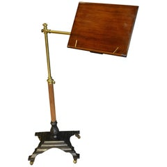 Victorian Cast Iron and Brass Reading Stand