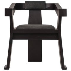 Contemporary Fiona Carver Dining Room Chair in Oak or Walnut