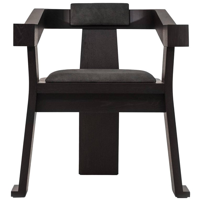 Contemporary Fiona Carver Dining Room Chair in Oak or Walnut  1