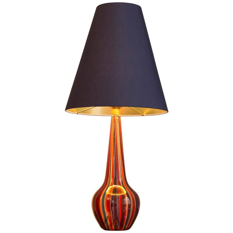 Table Lamp by Barovier & Toso, Italy, circa 1950 For Sale