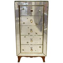 Early 20th French Mirrored Chest of Drawers