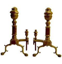 Pair of Chippendale Revival Andirons