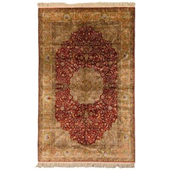 Original Turkish Hereke Rug, 1960