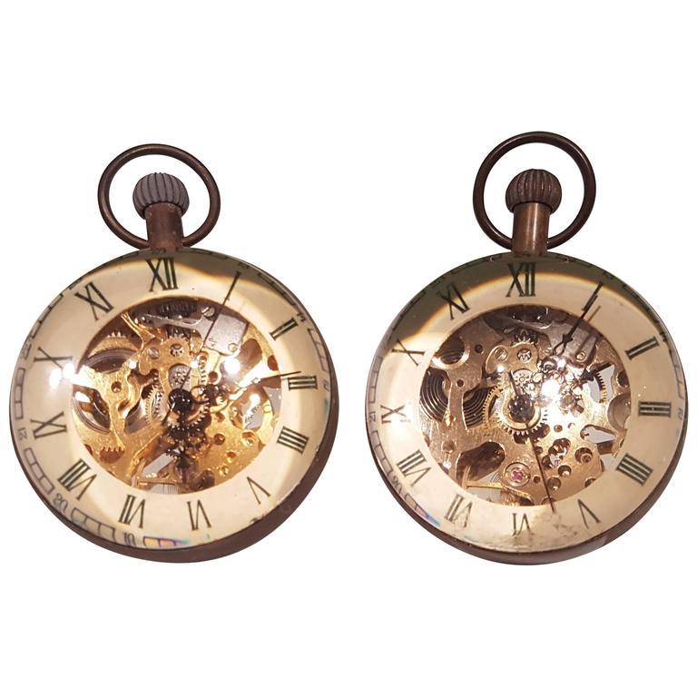 Pair of Desk Clocks For Sale