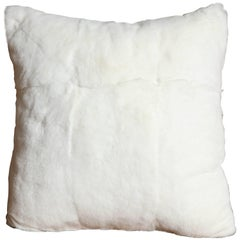 Custom White Rabbit Pillow