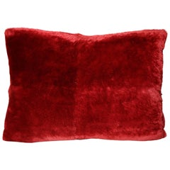 Red Sheared Beaver Pillow