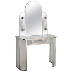 Art Deco Dressing Table and Mirror