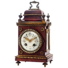 19th Century French Miniature Tortoiseshell Bracket Clock
