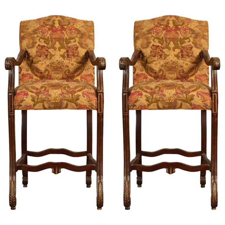 Pair Of Cherry Billiard Chairs For Sale At 1stdibs