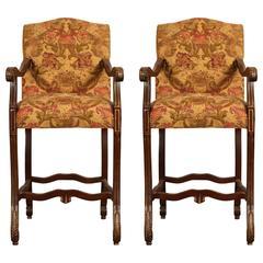 Pair of Cherry Billiard Chairs