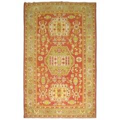 Antique Colorful Khotan Rug