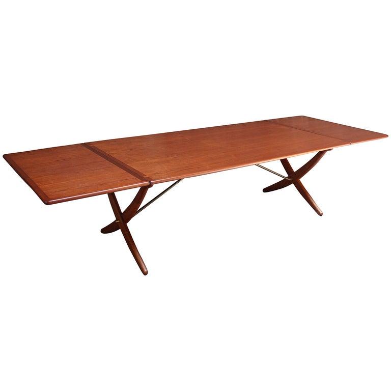 Hans Wegner For Andreas Tuck AT 314 Teak Drop Leaf Dining Table Sale
