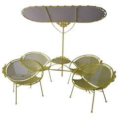 Salterini Lounge Chairs, Tete a Tete with Scarce Sun Shade