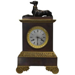 19th Century, French Bronze and Ormolu Mantel Clock